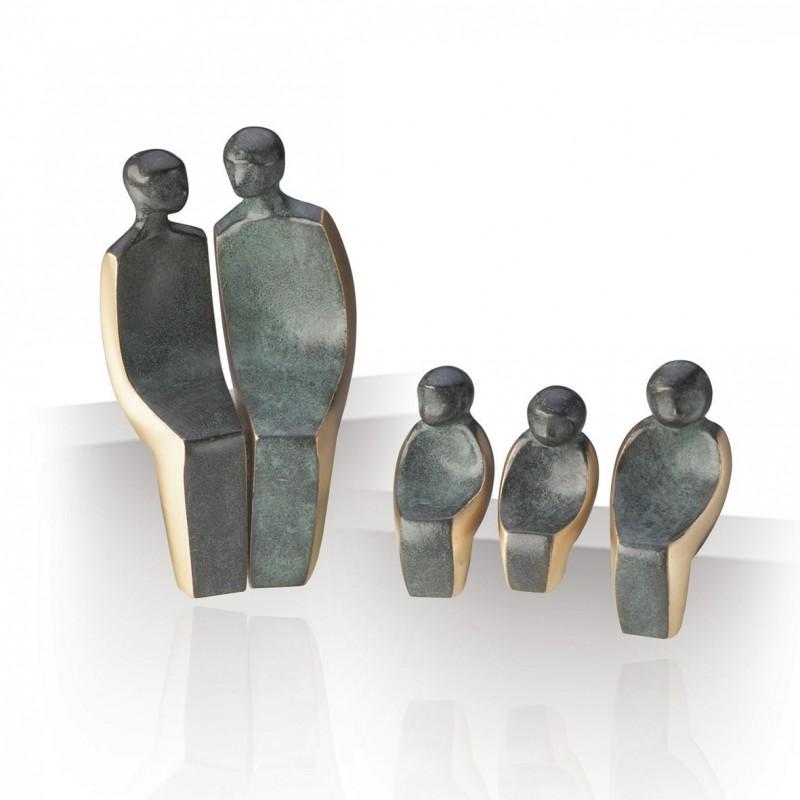 Luise Kött-Gärtner Skulptur kaufen Familie mit 3 Kindern | Kött-Gärtner
