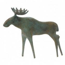 Kerstin Stark Bronzeskulpturen | Schieferstele mit Wengeholz-Sockel