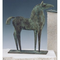 Kerstin Stark Bronzeskulpturen | Schieferstele Christus