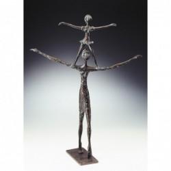 Kerstin Stark Bronzeskulpturen | Schieferstele Dein Engel