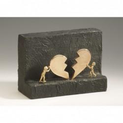 Bronzeskulptur Raimund Schmelter | Handzeichen: Viel Glück | Raimund Schmelter