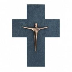 Kerstin Stark Skulpturen kaufen Schieferkreuz mit Korpus | Kerstin Stark