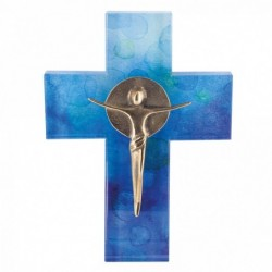 Kerstin Stark Skulpturen kaufen Glaskreuz mit Korpus | Kerstin Stark