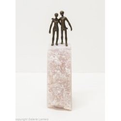 Original Skulptur Bronze auf Speckstein von Heinz Voss